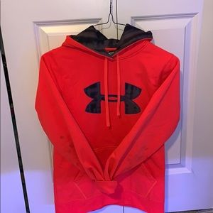 Bright Coral UnderArmor Hoodie Women's Small